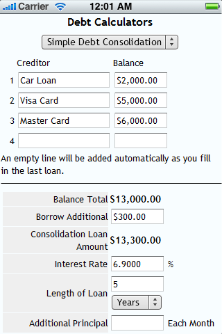 Debt Calculators