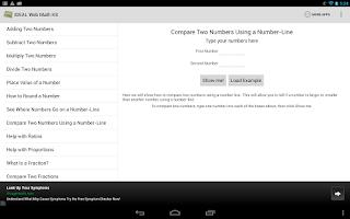 Screenshot of IDEAL Web Math K-8