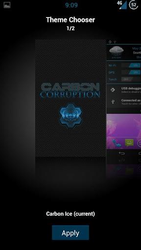 AOKP CM9 Carbon Blue ++