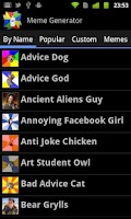 Screenshot of Meme Generator