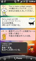 Screenshot of Cat Memo pad Widget Free