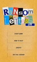 Screenshot of Ransom Letters Lite