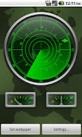 Screenshot of Radar Clock LiveWallpaper Demo