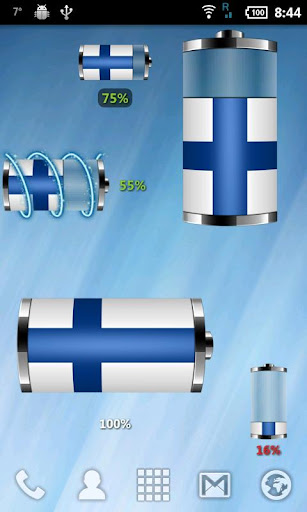 Finland - Flag Battery Widget