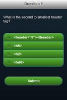 Screenshot of Web Language Quiz