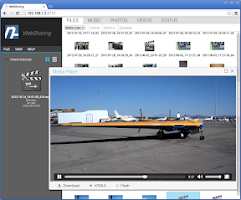 Screenshot of WebSharing (WiFi File Manager)