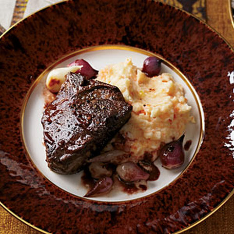 Braised Lamb Chops With Red Wine And Figs Recipes — Dishmaps