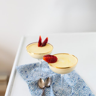 Maple-Sweetened Blood Orange Panna Cotta