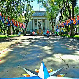 Prescott courthouse by Stephen Schwartzengraber - City,  Street & Park  Historic Districts ( park, arizona, historic district, people, historic )