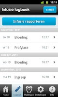 Screenshot of Helo! - Hemofilie logboek