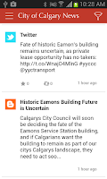 Screenshot of City of Calgary News