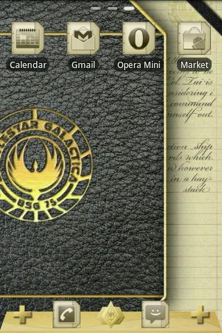 BSG Notebook GO Launcher Theme