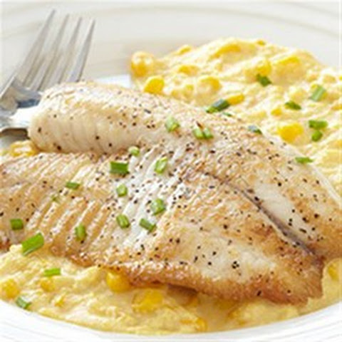 Sauteed Tilapia with Creamed Corn and Chives