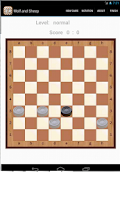 Screenshot of Wolf and Sheep (board game)