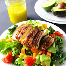 Chicken and Avocado Salad with Honey Lime Dressing