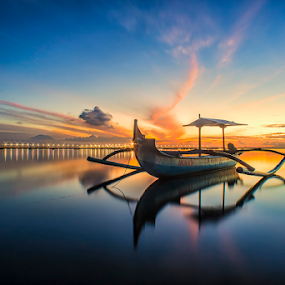 .:: sparkling dawn ::. by Setyawan B. Prasodjo - Transportation Boats ( reflection, blue hour, star light, twilight, sunrise )
