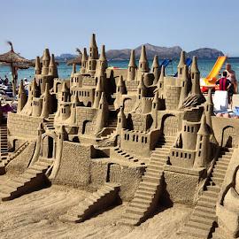 Sandcastle  by Julie Edwards - Nature Up Close Sand ( #sandcastle #summer #beach #hot #amazing )