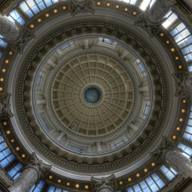 Boise Capitol Dome by John Herold - Buildings & Architecture Other Interior ( idaho, boise, dome, sunlight, capitol )