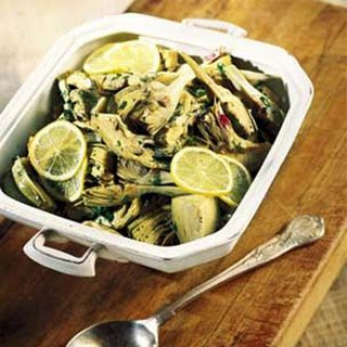 Sauteed Artichoke Hearts in Parsley-Lemon Sauce