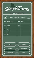 Screenshot of Simple Darts - Dart Scoring
