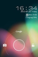 Screenshot of GO Locker Jelly Bean Theme