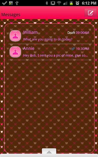 GO SMS - Hearts Eternity