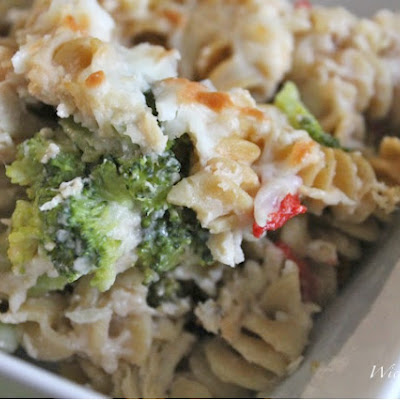 Healthy Chicken Alfredo Bake