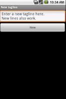 Screenshot of Tagline