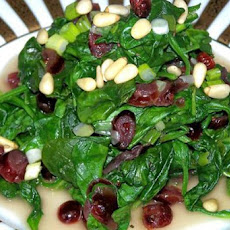 Spinach With Dried Cranberries (No Fat) Just Taste