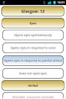 Screenshot of Glasgow Coma Scale Free