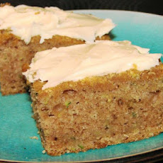 Zucchini Bars With Cream Cheese Frosting