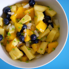 Spicy Mango Pineapple Salad (or Salsa)