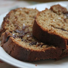 Chocolate Banana Almond Butter Bread (with Sea Salt!)