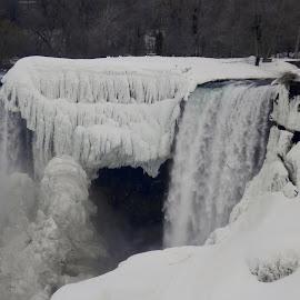Frozen Niagra by Joann Jarrett Brasington - Landscapes Weather ( icy, cold, waterfall, snow, frozen )