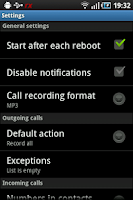 Screenshot of rVoix for rooted HTC Hero