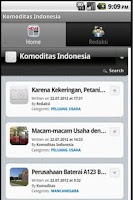 Screenshot of Komoditas Indonesia