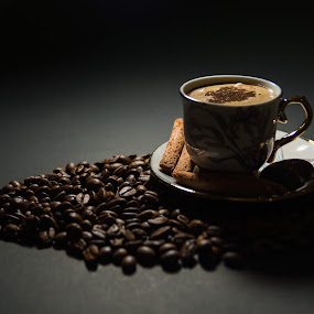 Coffee by Luca Arșinel - Food & Drink Alcohol & Drinks ( coffee beans, coffee, coffee cup,  )
