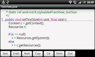 Screenshot of Jota Text Editor