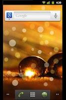 Screenshot of Golden Dreams Live Wallpaper