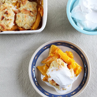 Mango Cobbler with Coconut Whipped Cream
