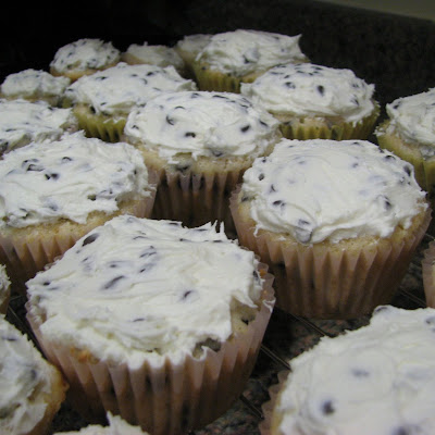 Chocolate Chip Cupcakes with Chocolate Chip Frosting