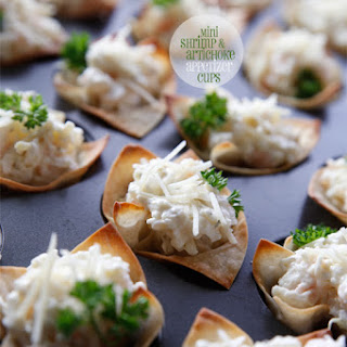 Mini Shrimp & Artichoke Appetizer Cups