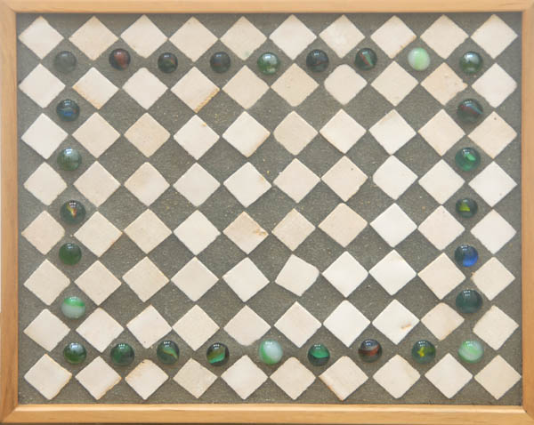 Tiles with marbles Table <br> 10 x 12 x 29 in