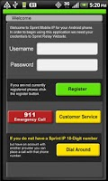 Screenshot of Sprint® Mobile IP
