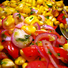 Fresh Corn Salad With Honey Lime Vinaigrette