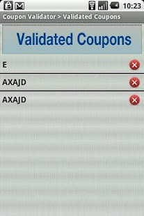 Coupon Validator - screenshot