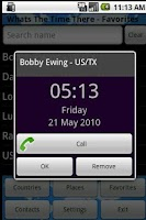 Screenshot of Phone World Clock and Timezone