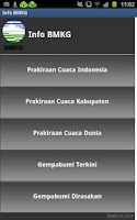 Screenshot of Info Gempa dan Cuaca
