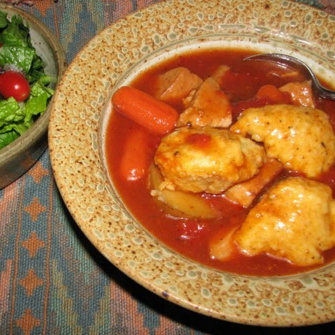 Slow Cooker Pork Stew With Cornmeal Dumplings