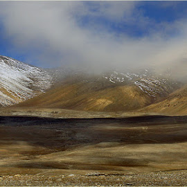 Cold Desert at Gurudongma by Sonali De - Landscapes Mountains & Hills